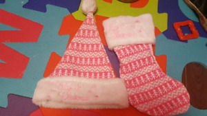 Baby's 1st Christmas Hat and Stocking