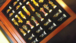 Rare king arthurs court chess set Hand painted pieces