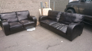 Free Love seat and a sofa.