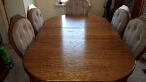 Dining Room Solid OAK Table and Chairs - Price Reduced!