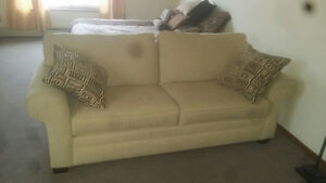 Very comfy corduroy couch and pillows - great condition!