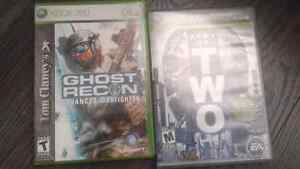 Jeux xbox 360 ghost recon et army of two