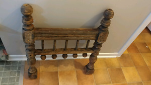 Antique child / doll bed head board