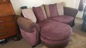 DFS 3 Seater Lounger Sofa and Cuddle Chair