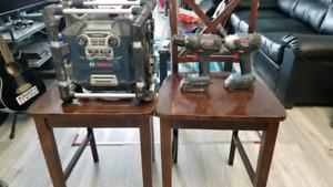 Bosch radio and drills 175 obo