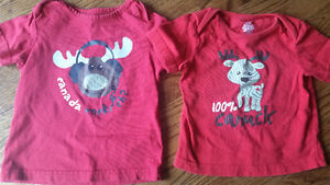 Canada shirts x2 for kids 12-18 months
