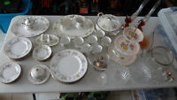 Huge Collection of Antique Bone China, Tea Sets, Dishes, etc...