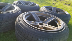 5X114.3 NEW RIMS AND TIRES 215/45R17!!! NEW