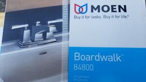 MOEN BOARDWALK CHROME WASHROOM FAUCET WITH POP-UP DRAIN