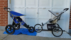2 STROLLERS, 2 TYPES, WITH 3 WHEELS AND W 6, I DELIVER