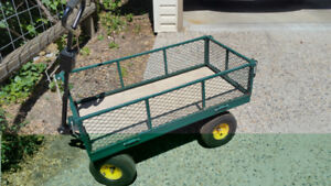 Heavy Duty 4-wheel cart.39x19x10 inches inside ,1200 lbs capaci
