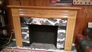 Antique Fireplace Mantel and Antique Insert