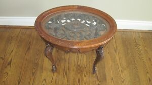 fancy carved oval  table