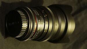 Rokinon 35mm prime still / video lens T1.5 for Canon EF