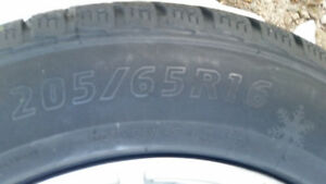 4 Snow Tires on Mag Rims for Sale