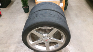 Two Rear C6 Corvette tires for sale. Not rims!