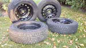 4 Winter Tires with Rims-185/65R15 Nexen+Winguard Tires Kitchener / Waterloo Kitchener Area image 3