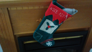 NICE KITTY STOCKING & MOUSE