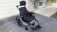 Super Tilt, one year old, Type 5 manual wheel chair