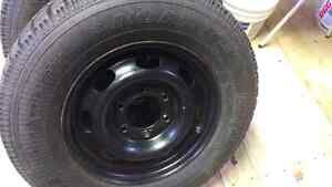 4 chev winter tires and  rims