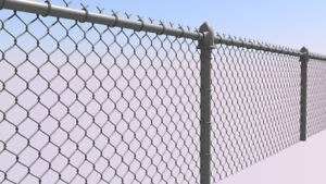 250ft. chain link, posts-4 ft high 2 gates and parking gate $450