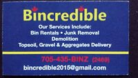 Bincredible Bin rental and junk removal