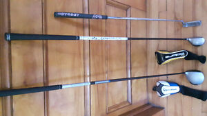 Mini Driver, 3 hybrid and putter for sale
