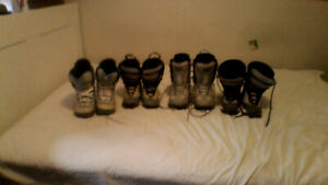 4 pairs of Snowboard Boots, $15 BUYS THEM ALL