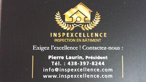 Inspecteur en bâtiment. Exigez l'excellence! Contactez-nous :