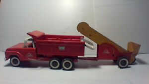 "1950's  ""Lil Beaver toy Trucks and Loader """