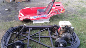 GO KART SOLID FRAME 5HP PLZ CONTACT NEEDS LIL WASH TLC