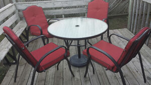 Full luxury Kitchen and Furnitures patio chairs set up
