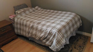 Single bed with mattress, box and frame on sale!