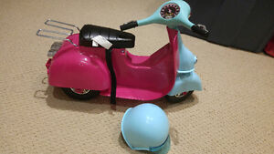 Scooter and helmet for american girl