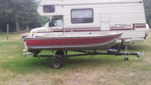 12 foot boat, motor and trailer