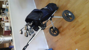 Wilson ProStaff Golf Clubs with Collapsible Pull Cart