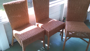 3 wicker chairs