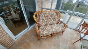 Causeuse 2 places, chaise et meuble de télévision