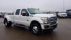 2015 Ford F350 Lariat Crew Cab Long Box Dually Low Kms $58,987