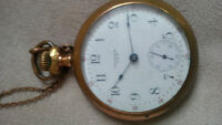 1917 American Waltham Watch Company Pocket Watch and Chain