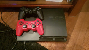 PS3, 2 controllers, games.