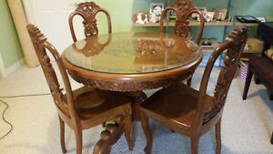 SALE- PERFECT WOODEN  DINING SET
