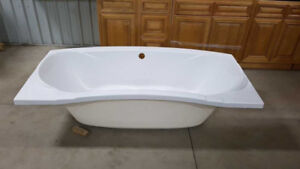 "New 72"" Fiberglass Rect. Drop-in Non Whirlpool B-tub in Wh"