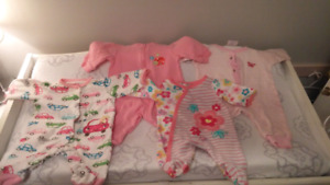 Girls newborn sleepers