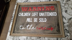 Handpainted Circus Sign     -    custom signs available
