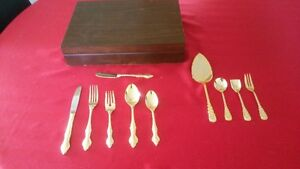 Royal Sealy Gold Plated Flatware