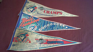 Toronto Blue Jays Pennants Lot 1992 1993 World Series Champs
