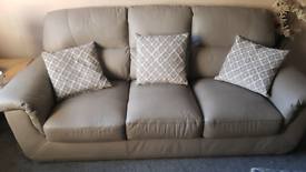 Real leather 3+2 seater sofas