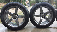 REDUCED! Near new Blizzaks on Klassen rims 225/50/18