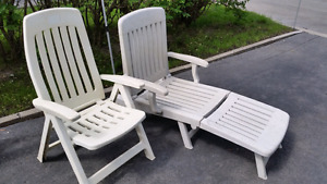 $25.00 !!! Set Folding Pool Patio Deck Chairs / Chaise Longue